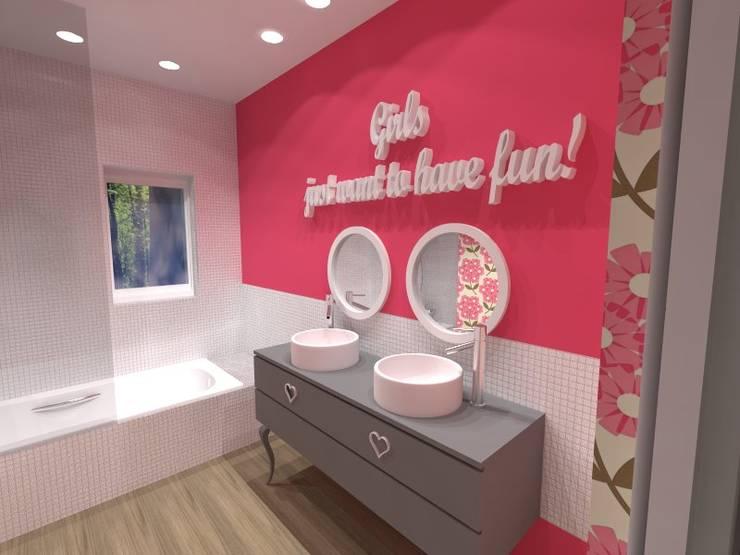 Casa de Banho das Meninas: Casas de banho  por EGO Interior Design