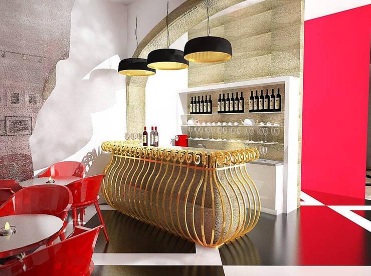 WINE BAR : Bares e clubes  por EGO Interior Design