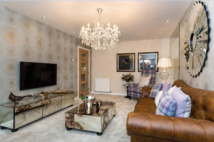 غرفة المعيشة تنفيذ Graeme Fuller Design Ltd