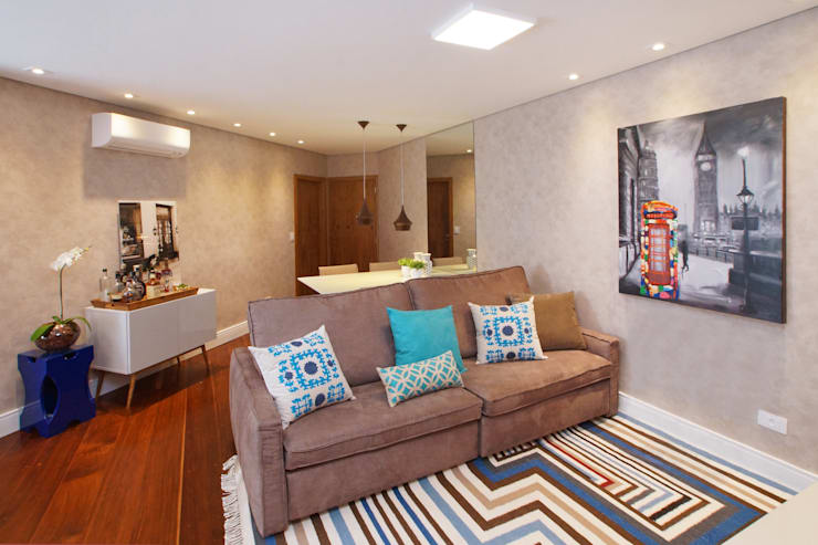 Salas de estilo  por Serra Vaz Arquitetura e Design de Interiores