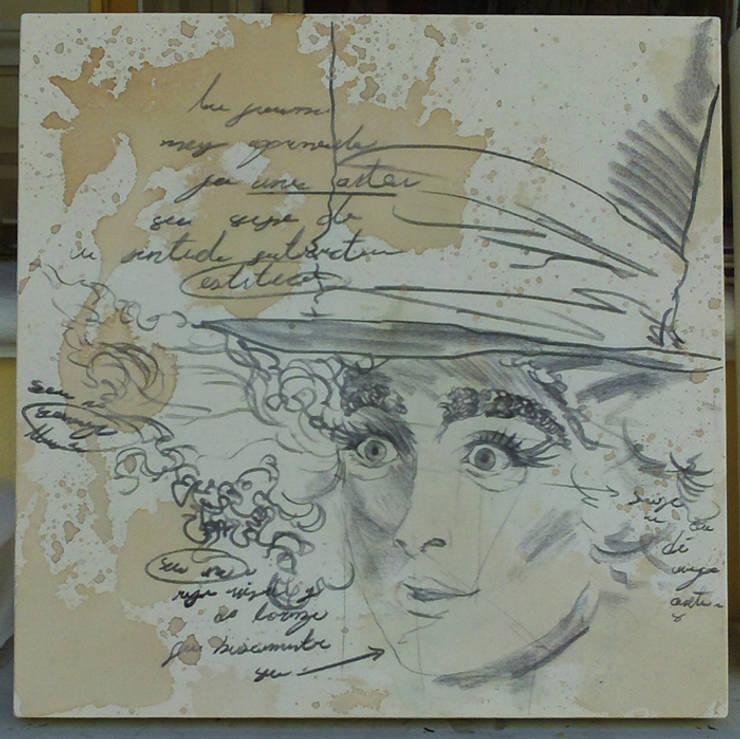 Estudio sombrerero 1: Arte de estilo  por ANTAVIA WALL DECOR