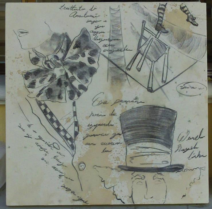 Estudio sombrerero 2: Arte de estilo  por ANTAVIA WALL DECOR