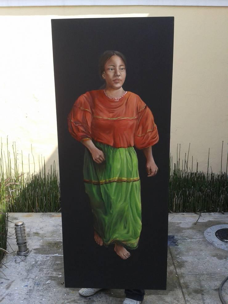 Niña tarahumara: Arte de estilo  por ANTAVIA WALL DECOR