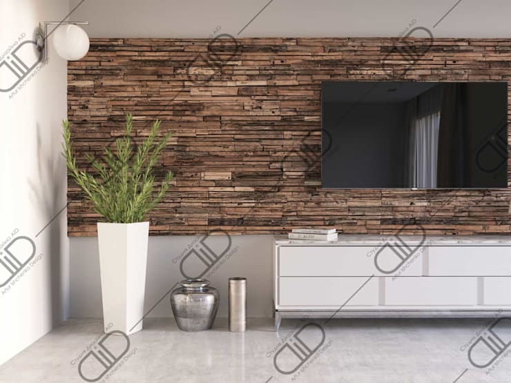 Interior Design and Rendering:  Living room by Design Studio AiD