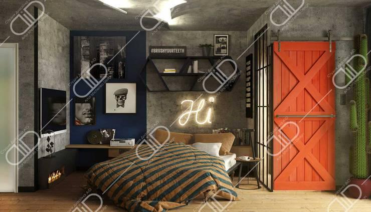 Interior Design and Rendering:  Bedroom by Design Studio AiD