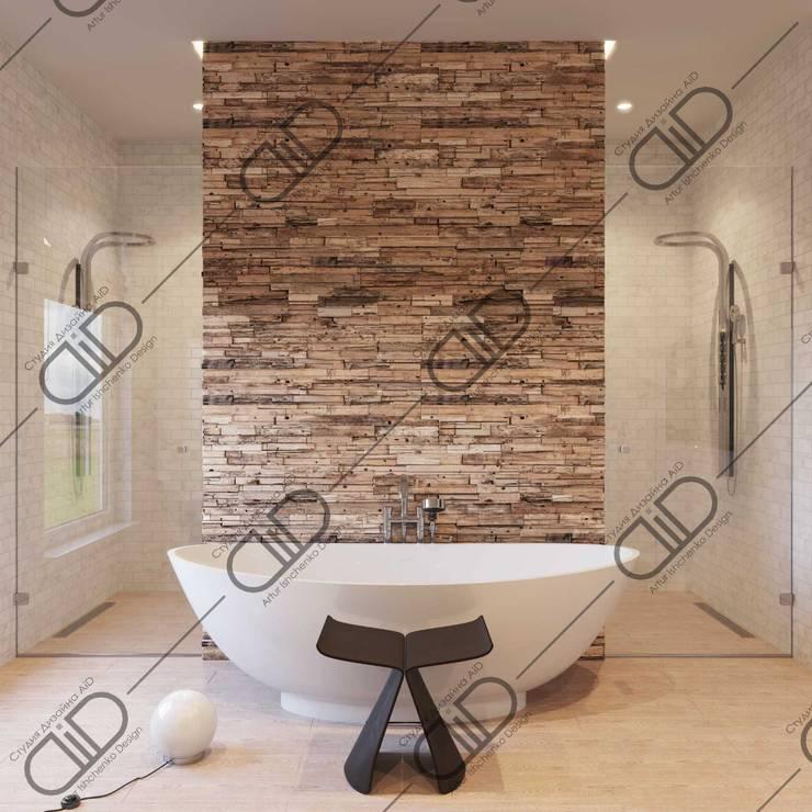 Interior Design and Rendering:  Bathroom by Design Studio AiD