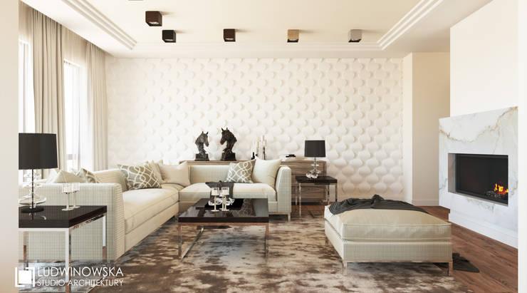 ludwinowska.pl: styl , w kategorii Salon zaprojektowany przez Ludwinowska Studio Architektury