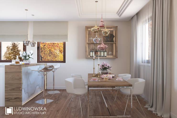 ludwinowska.pl: styl , w kategorii Jadalnia zaprojektowany przez Ludwinowska Studio Architektury