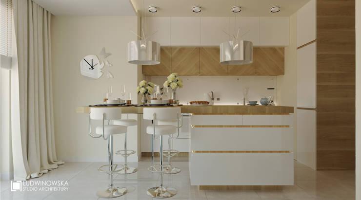 MOTYLE: styl , w kategorii Kuchnia zaprojektowany przez Ludwinowska Studio Architektury