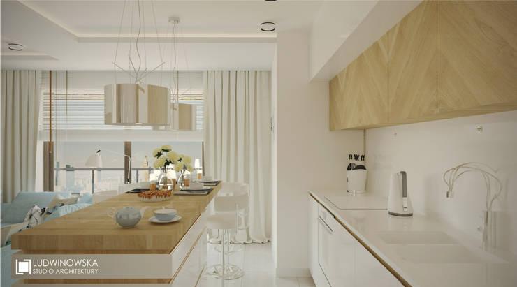ludwinowska.pl: styl , w kategorii Kuchnia zaprojektowany przez Ludwinowska Studio Architektury