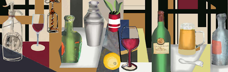 Boceto 3: Arte de estilo  por ANTAVIA WALL DECOR