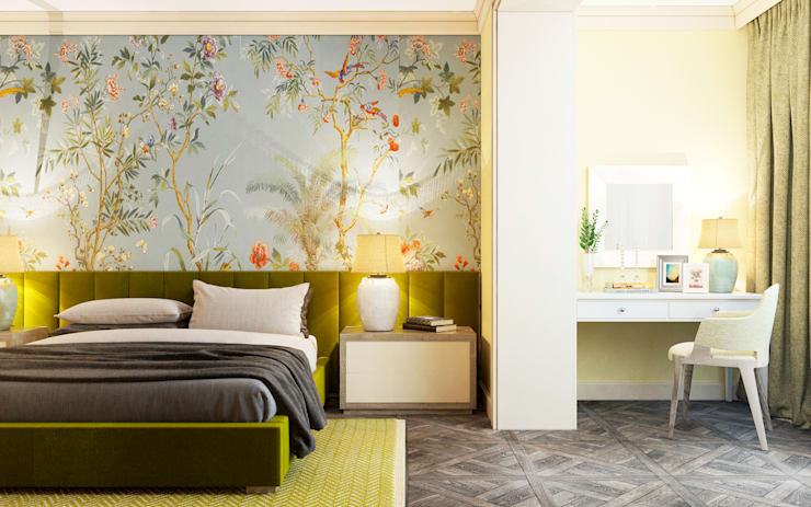GORGEOUS FRENCH INTERIOR: Спальни в . Автор – Zikzak Design Studio