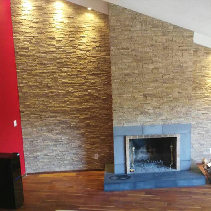 Remodelación Sala: Salas de estilo moderno por casas eco constructora