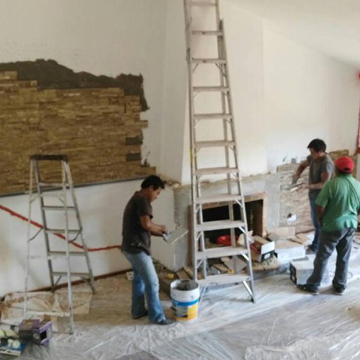 Remodelación Sala:  de estilo  por casas eco constructora