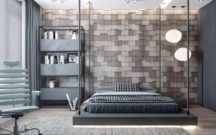 Спальни в . Автор – ZIKZAK architects