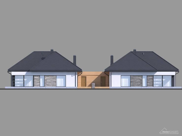 Projekt domu HomeKONCEPT-42B: styl nowoczesne, w kategorii Domy zaprojektowany przez HomeKONCEPT | Projekty Domów Nowoczesnych