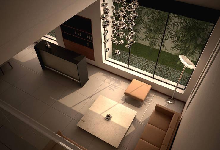 Casa Lázaro: Salas de estilo  por DAR Arquitectos