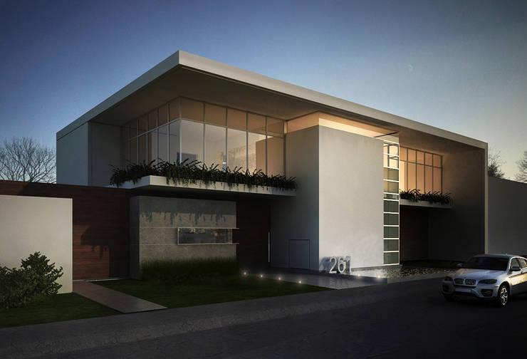 Casa Lázaro: Casas de estilo  por DAR Arquitectos
