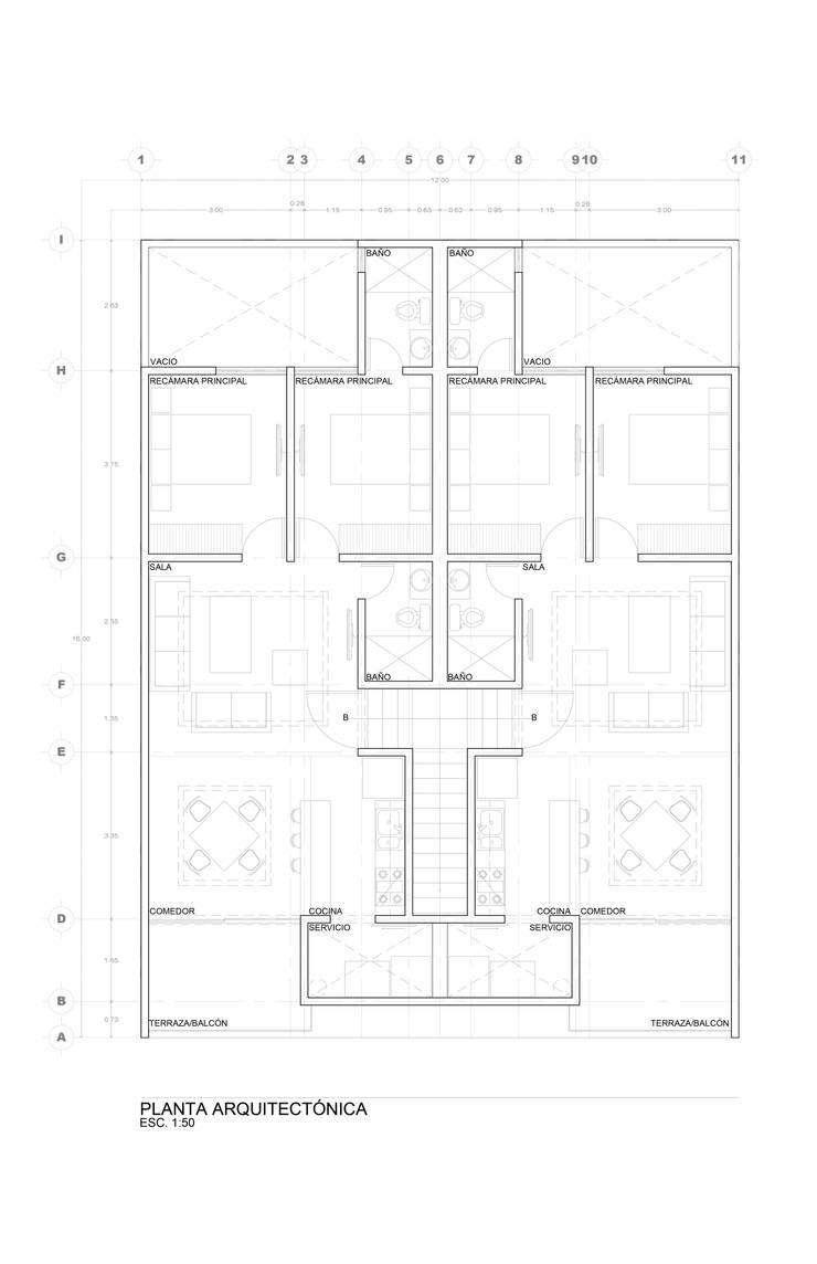 Departamentos Valencia:  de estilo  por DAR Arquitectos