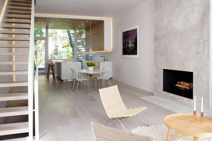 Passive in Park Slope:  Living room by Sarah Jefferys Design