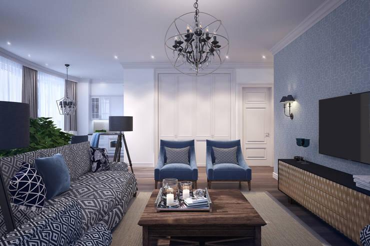 غرفة المعيشة تنفيذ Natalia Solo Design