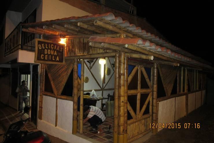 OBRA EN GUADUA SOMONDOCO BOYACA :  de estilo  por GUADUA Y BAMBU COLOMBIA