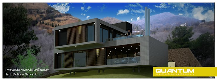 PROYECTO VIVIENDA MULTIFAMILIAR. Sierras de Córdoba.: Casas de estilo  por Betiana Denardi | Arquitecta,Minimalista Hormigón