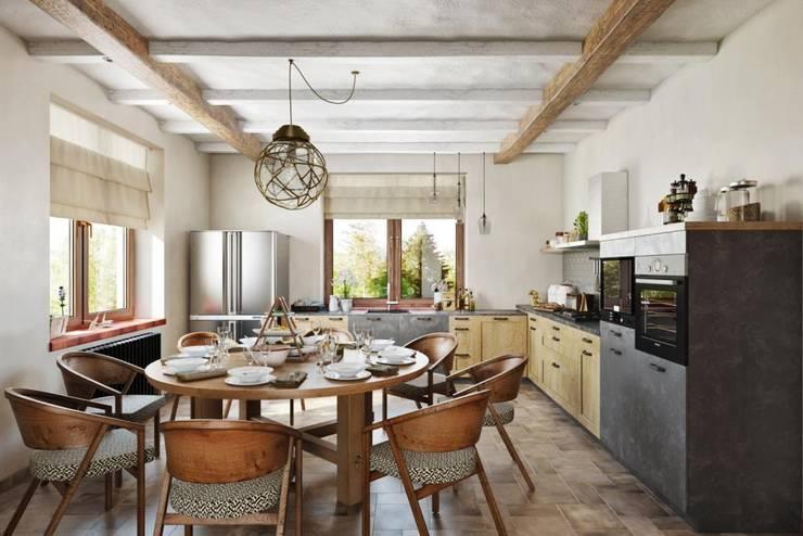 Dining room by Дизайн студия Алёны Чекалиной