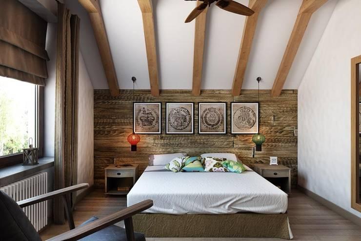 country Bedroom by Дизайн студия Алёны Чекалиной