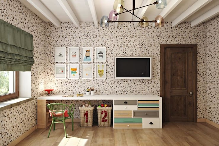 country Nursery/kid's room by Дизайн студия Алёны Чекалиной