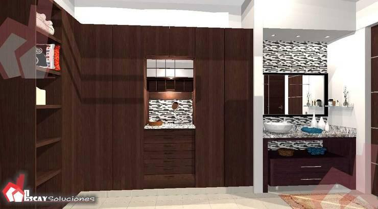 Vestidor Makulis: Vestidores y closets de estilo  por Escay Soluciones