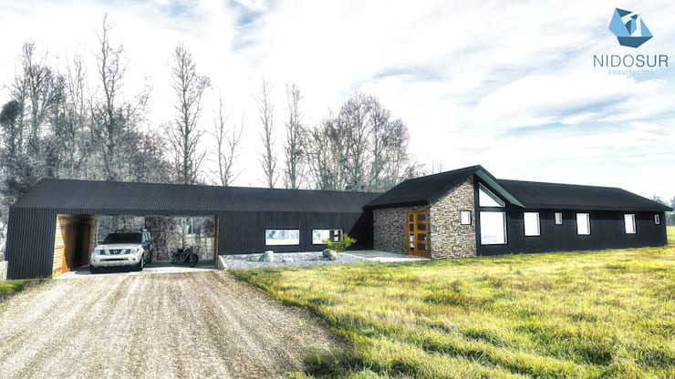 CASA 3N: Casas de estilo  por NidoSur Arquitectos