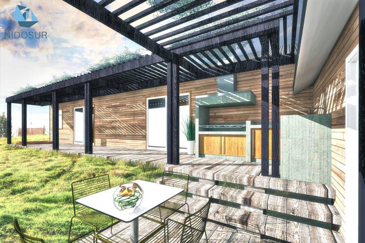 CASA 3N: Terrazas  de estilo  por NidoSur Arquitectos