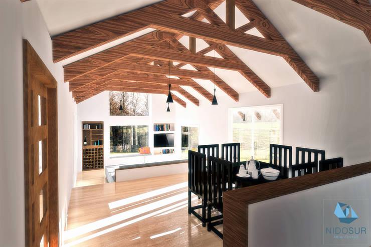 CASA 3N: Comedores de estilo moderno por NidoSur Arquitectos