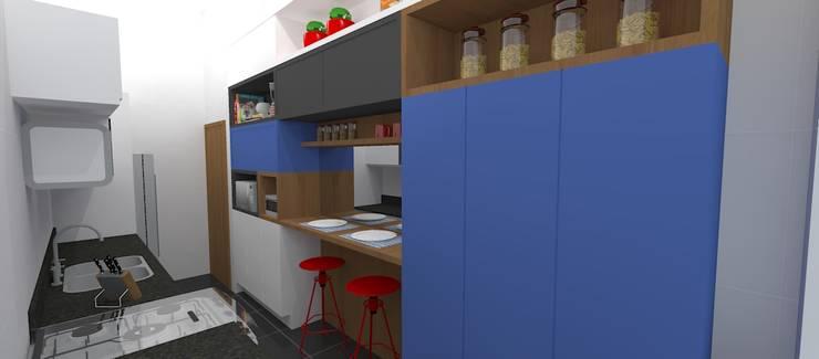 Кухни в . Автор – Carolina Mendonça Projetos de Arquitetura e Interiores LTDA,