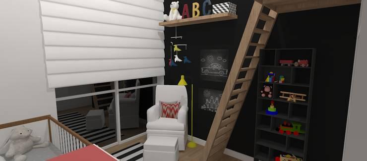Детские комнаты в . Автор – Carolina Mendonça Projetos de Arquitetura e Interiores LTDA,