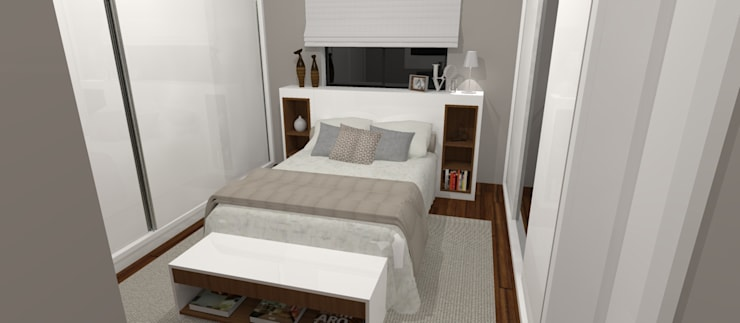 Bedroom by Carolina Mendonça Projetos de Arquitetura e Interiores LTDA, Modern