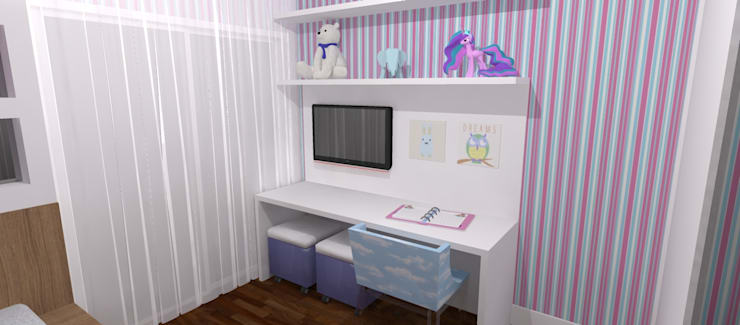 Cuartos infantiles de estilo  por Carolina Mendonça Projetos de Arquitetura e Interiores LTDA, Moderno