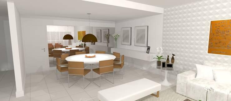 Salas / recibidores de estilo  por Carolina Mendonça Projetos de Arquitetura e Interiores LTDA, Moderno