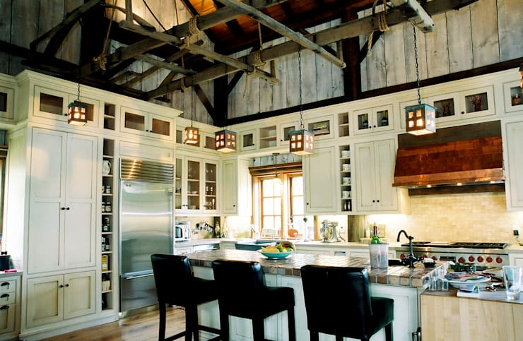 Luxury Barn: country Kitchen by Jeffrey Dungan Architects