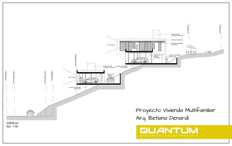 PROYECTO VIVIENDA MULTIFAMILIAR. Sierras de Córdoba.: Casas de estilo  por Betiana Denardi | Arquitecta,Minimalista