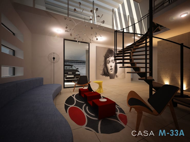 Interior sala: Salas de estilo  por Constructora Asvial - Desarrollador Inmobiliario