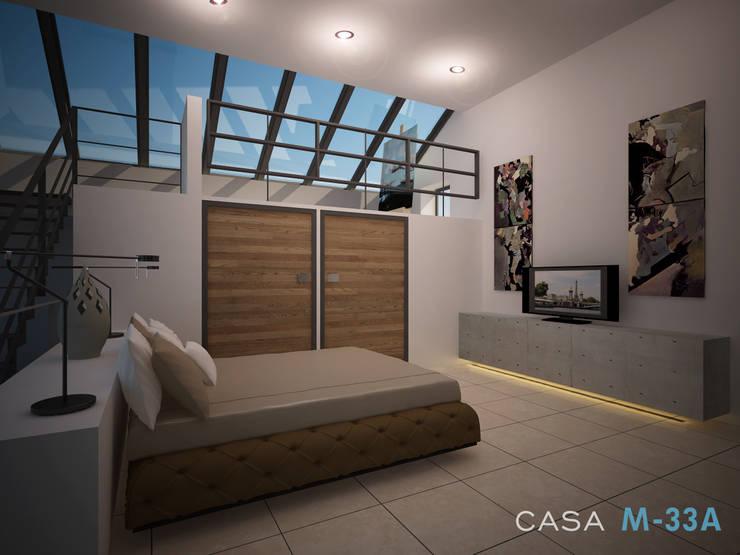 Diseño de recámara: Recámaras de estilo  por Constructora Asvial - Desarrollador Inmobiliario