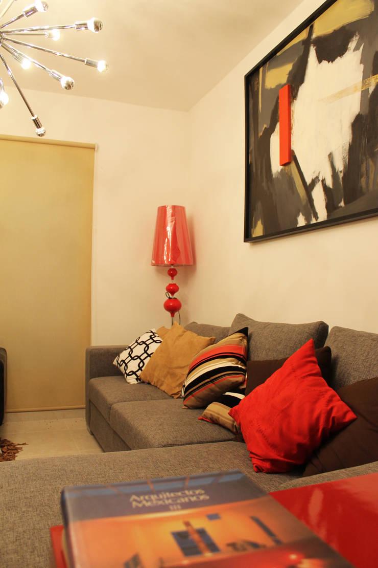 Diseño interior Sala 2: Salas de estilo  por Constructora Asvial - Desarrollador Inmobiliario