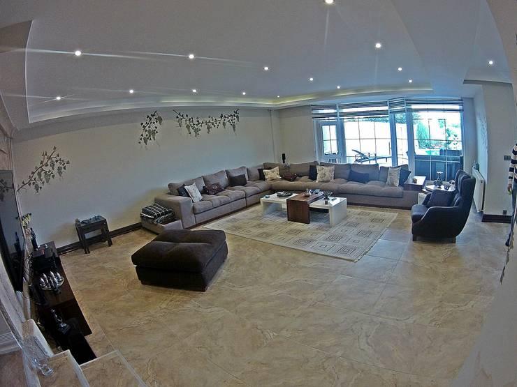 modern Living room by Damla SABUNCU