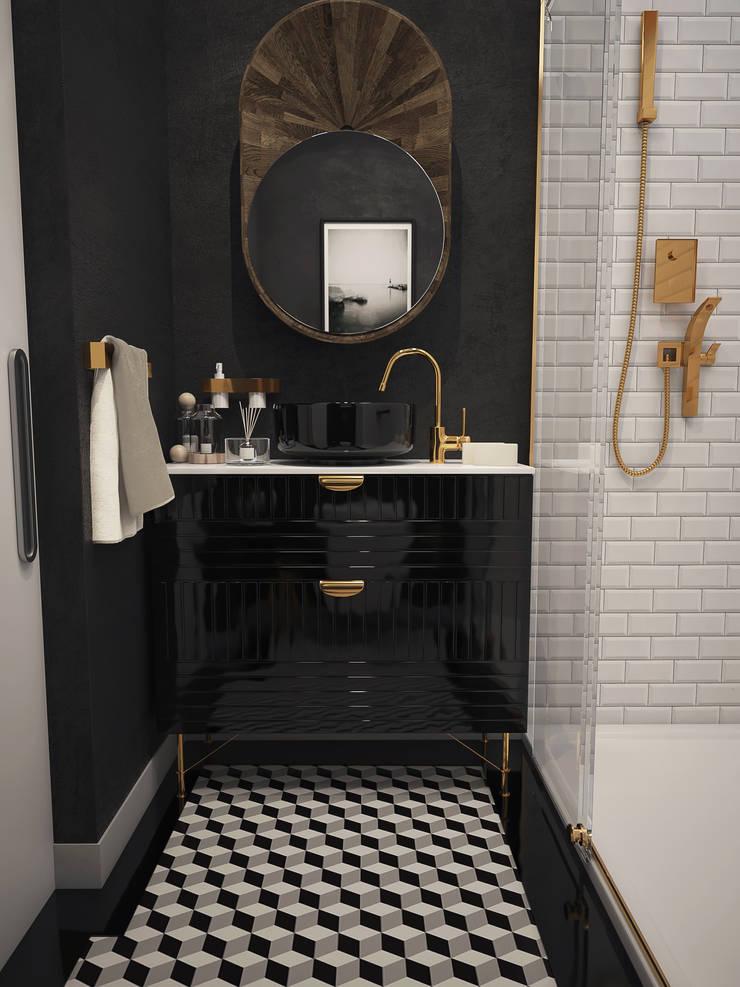 Boraevgar – Konut 1+0:  tarz Banyo, İskandinav Seramik