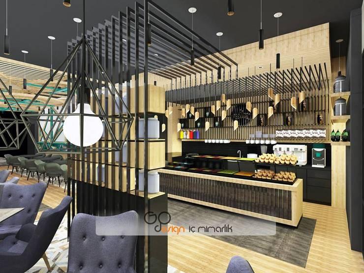 GO Design İç Mimarlık – Kahvetat Muğla:  tarz Yeme & İçme, Modern