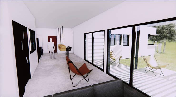 Casa Fys: Casas de estilo  por En obra arquitectos