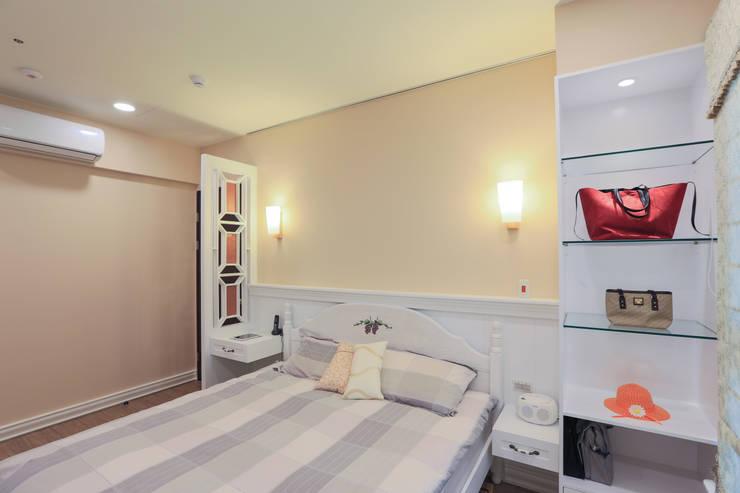 鄉村優雅宅:  臥室 by 微自然室內裝修設計有限公司