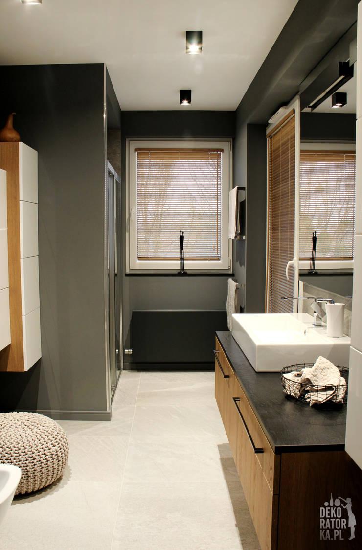 Ванные комнаты в . Автор – dekoratorka.pl, Модерн